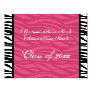 La graduación femenina de la cebra rosada elegante anuncios personalizados