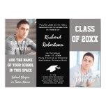La graduación gris y negra elegante del hombre comunicados