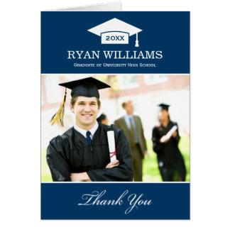 La graduación le agradece blanco de los azules mar
