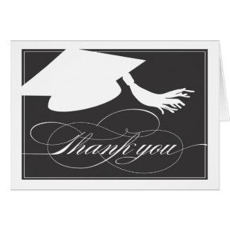 La graduación le agradece cardar el negro del felicitaciones