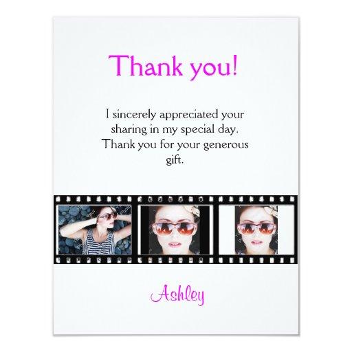 La graduación le agradece tarjeta de nota de la anuncios personalizados