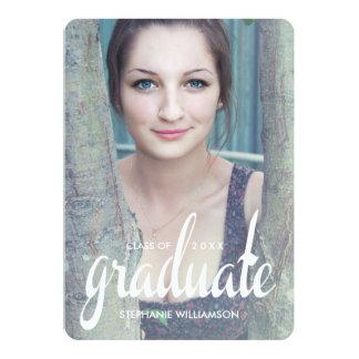 La graduación moderna de la foto del graduado invitación 12,7 x 17,8 cm