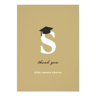 """La graduación moderna de la letra S del monograma Invitación 5"""" X 7"""""""