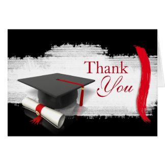 La graduación moderna le agradece las notas tarjeta de felicitación