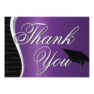 """La graduación púrpura y negra le agradece invitación 5"""" x 7"""""""