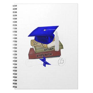 La graduación reserva el casquillo y el diploma, libro de apuntes