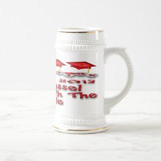 La graduación roja capsula a Stein Jarra De Cerveza