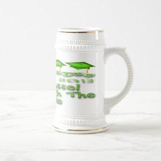 La graduación verde capsula a Stein Jarra De Cerveza
