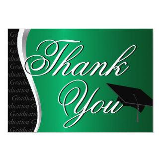 """La graduación verde y negra le agradece invitación 5"""" x 7"""""""