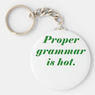 La gramática apropiada es caliente llavero redondo tipo pin