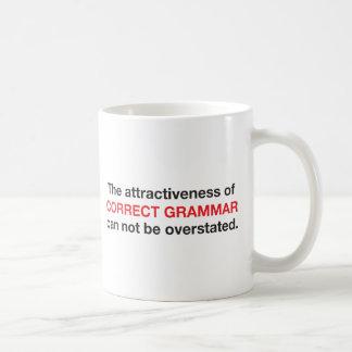 ¡La gramática correcta es atractiva! Tazas De Café