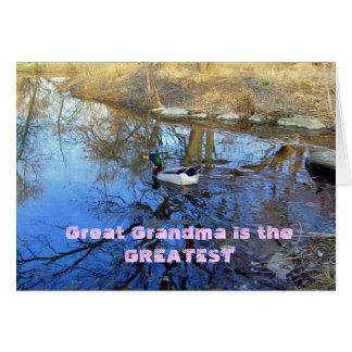 La gran abuela es la tarjeta más grande