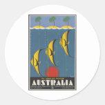 La gran barrera de coral Australia Pegatina Redonda