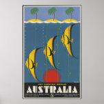 La gran barrera de coral Australia Poster