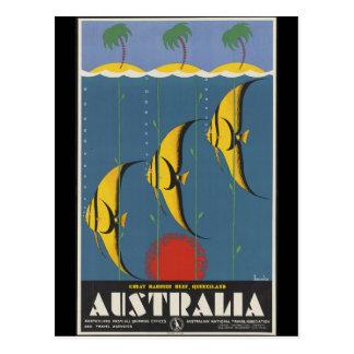 La gran barrera de coral Australia Postal