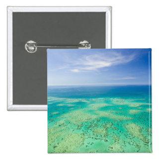 La gran barrera de coral, vista aérea del verde 2 pin cuadrado