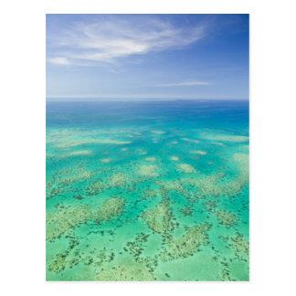 La gran barrera de coral, vista aérea del verde postales