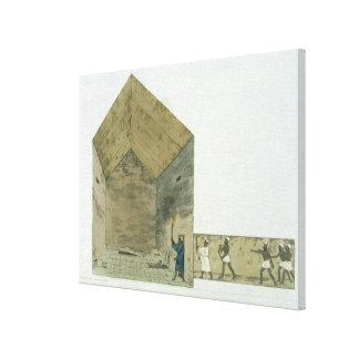 La gran cámara en la segunda pirámide de Ghizeh, Impresiones De Lienzo