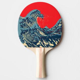 La gran decoración del estallido de la onda de pala de tenis de mesa