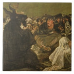 La gran Él-cabra de las brujas el Sabat o Teja Cerámica