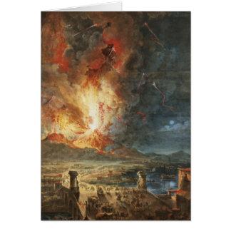 La gran erupción del monte Vesubio Tarjeta De Felicitación