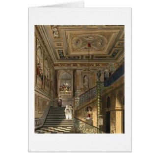 La gran escalera en el palacio de Kensington de Py Tarjeta De Felicitación