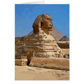 La gran esfinge de Giza Tarjeta De Felicitación