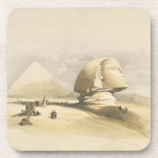 """La gran esfinge y las pirámides de Giza, de """"E Posavasos De Bebidas"""