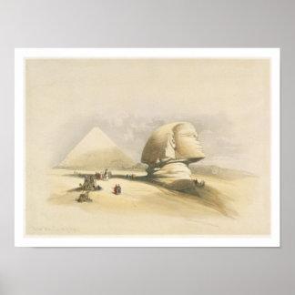 """La gran esfinge y las pirámides de Giza, de """"E Póster"""