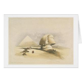 """La gran esfinge y las pirámides de Giza, de """"E Tarjeta De Felicitación"""