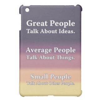 La gran gente habla de ideas