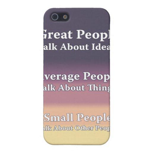 La gran gente habla de ideas iPhone 5 funda