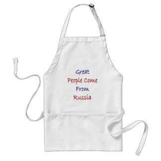 La gran gente viene de Rusia Delantal