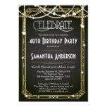"""La gran invitación/el art déco del cumpleaños de invitación 5"""" x 7"""""""