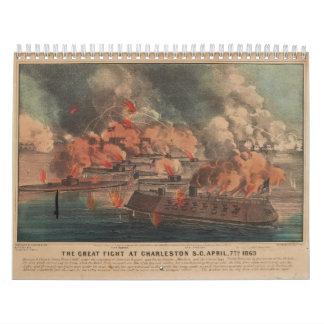 La gran lucha en la guerra civil de Charleston 186 Calendarios