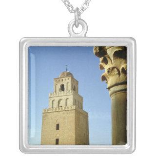 La gran mezquita, Aghlabid, ANUNCIO 836-875 Colgante Cuadrado