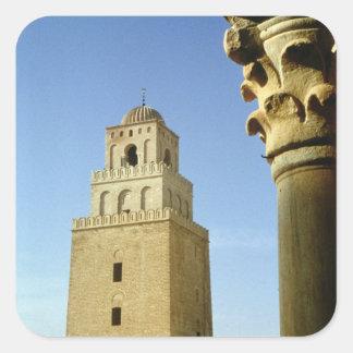 La gran mezquita, Aghlabid, ANUNCIO 836-875 Pegatina Cuadrada