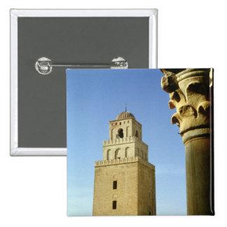 La gran mezquita, Aghlabid, ANUNCIO 836-875 Pin Cuadrado