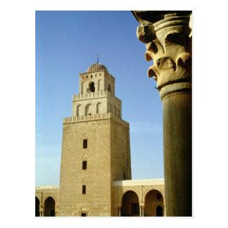 La gran mezquita, Aghlabid, ANUNCIO 836-875 Postal