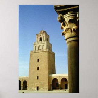 La gran mezquita, Aghlabid, ANUNCIO 836-875 Póster
