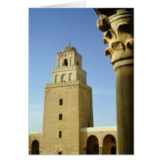 La gran mezquita, Aghlabid, ANUNCIO 836-875 Tarjeta De Felicitación