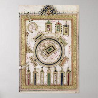 La gran mezquita de La Meca Póster