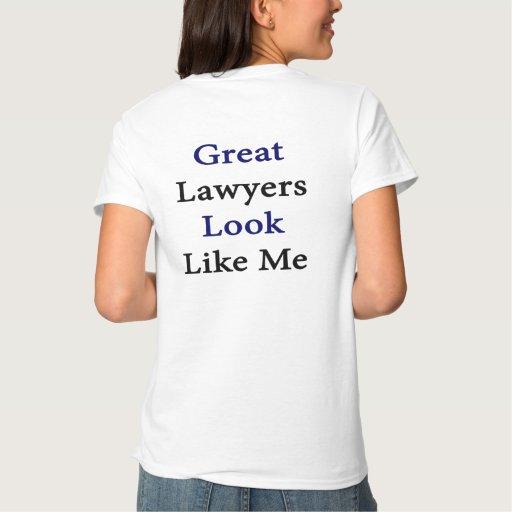 La gran mirada de los abogados tiene gusto de mí playera