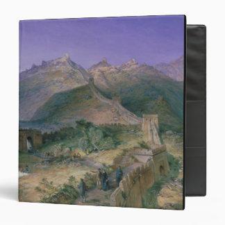 "La Gran Muralla de China, 1886 (w/c) Carpeta 1 1/2"""