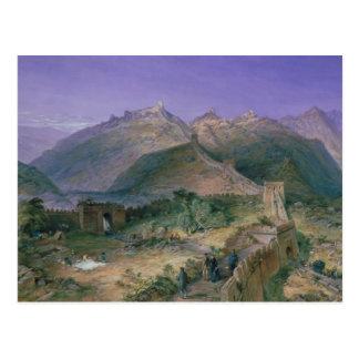 La Gran Muralla de China, 1886 (w/c) Tarjetas Postales