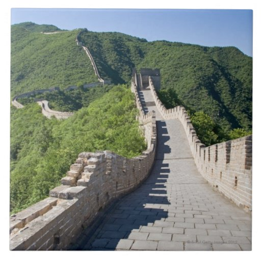 La Gran Muralla de China en Pekín, China Azulejo Cuadrado Grande