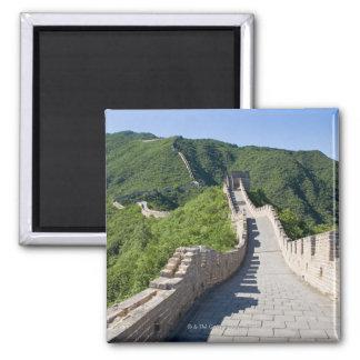La Gran Muralla de China en Pekín, China Imán Cuadrado