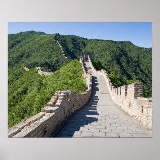 La Gran Muralla de China en Pekín, China Posters