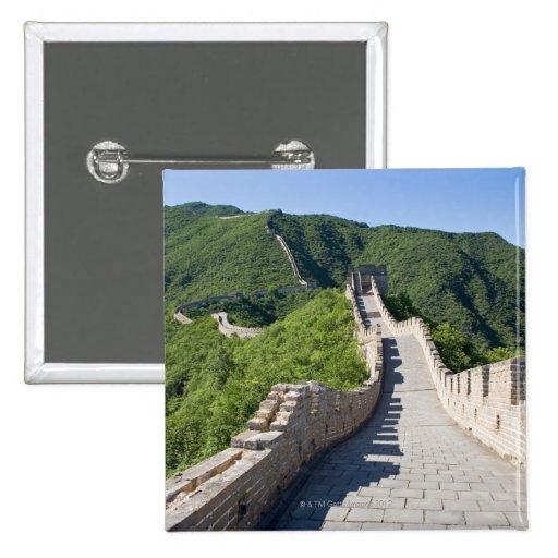La Gran Muralla de China en Pekín, China Pin Cuadrada 5 Cm