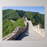 La Gran Muralla de China en Pekín, China Póster